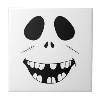 Smiling Zombie Face Tile
