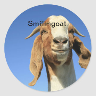Smilingoat Classic Round Sticker