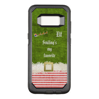 """Smiling's my favorite"" Christmas Elf Quote OtterBox Commuter Samsung Galaxy S8 Case"
