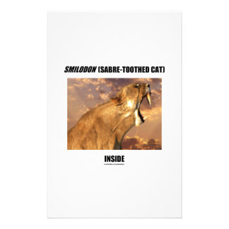 Smilodon (Sabre-Toothed Cat) Inside Stationery