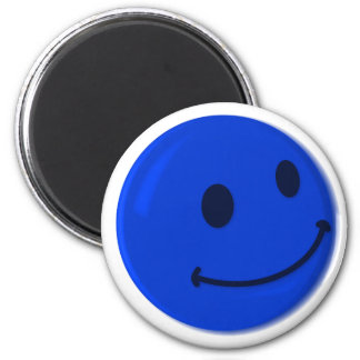 SMILY 6 CM ROUND MAGNET