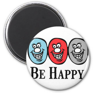 Smily Face (Be Happy) *Magnet 6 Cm Round Magnet