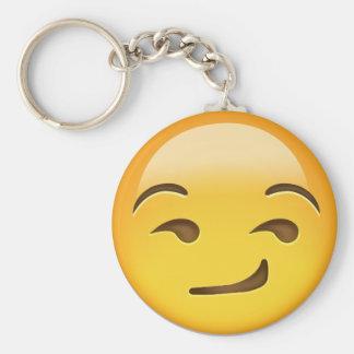 Smirking Face Emoji Key Ring