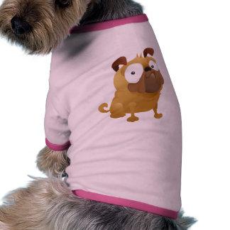 Smirking Pug Pet Shirt