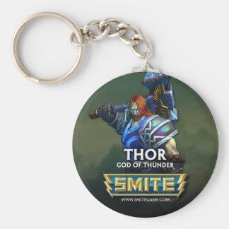 SMITE: Thor, God of Thunder Basic Round Button Key Ring