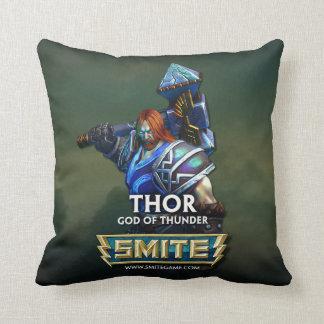 SMITE: Thor, God of Thunder Throw Pillow