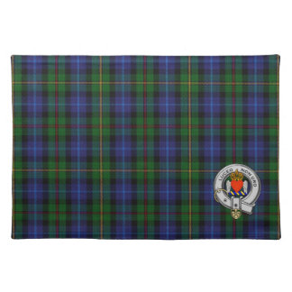 Smith Clan Tartan Plaid & Family Crest Badge Placemat