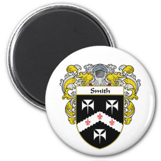 Smith Coat of Arms (Mantled) 6 Cm Round Magnet