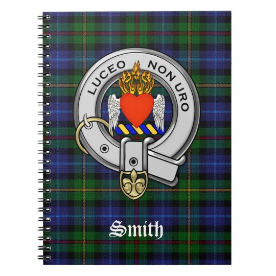 Smith Family Tartan Plaid and Clan Crest Badge