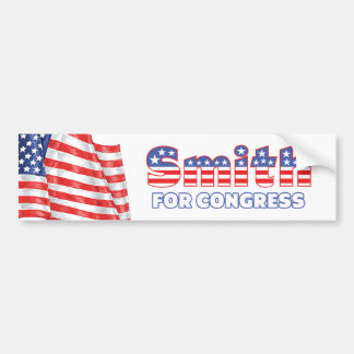 Smith for Congress Patriotic American Flag Design Bumper Sticker