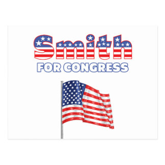 Smith for Congress Patriotic American Flag Design Postcard