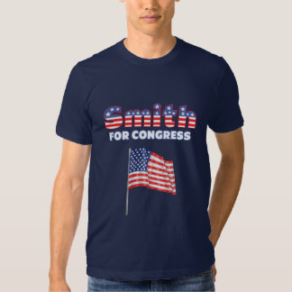 Smith for Congress Patriotic American Flag Design Shirts