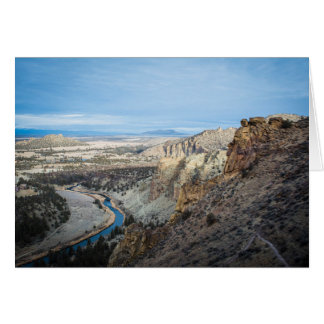 Smith Rock Canyon Greeting Card (Blank)
