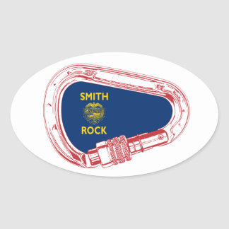 Smith Rock Climbing Carabiner Oval Sticker