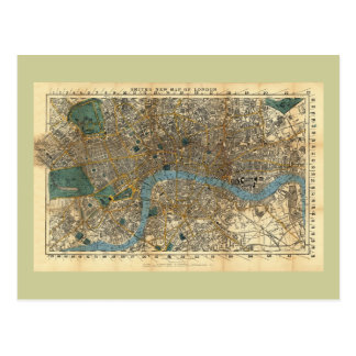 Smith s new map of London 1860 Post Card
