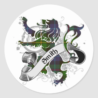 Smith Tartan Lion Stickers