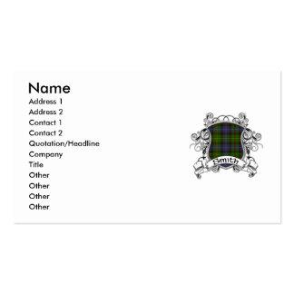 Smith Tartan Shield Business Card Templates
