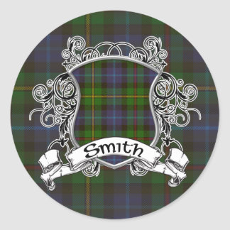Smith Tartan Shield Round Sticker