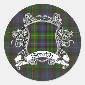 Smith Tartan Shield Stickers