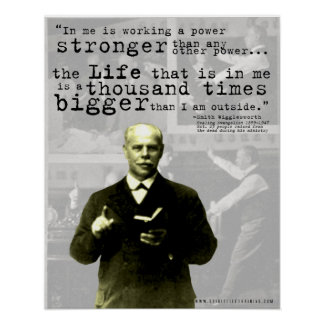 "Smith Wigglesworth Quote poster- ""Life"""