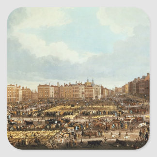 Smithfield Market, engraved by R.G. Reeve Square Sticker