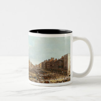 Smithfield Market, engraved by R.G. Reeve Two-Tone Coffee Mug