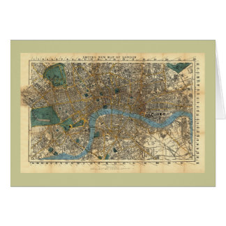 Smith's new map of London 1860 Greeting Card