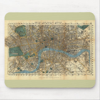 Smith's new map of London 1860 Mouse Pad