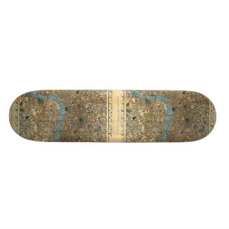 Smith's new map of London 1860 Skateboard Decks