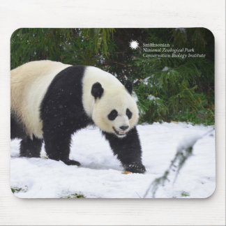 Smithsonian   Giant Pandas In The Snow Mouse Mat
