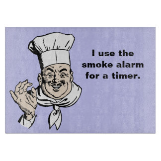 Smoke alarm is the timer cutting board