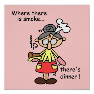 Smoke and Dinner T-shirts and Gifts Poster