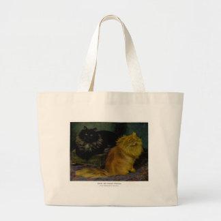 Smoke and Orange Persian Cats Artwork Tote Bag