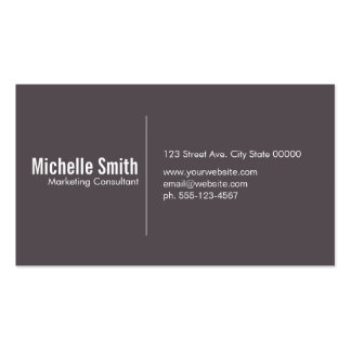 Smoke Brown background with Divider Line Pack Of Standard Business Cards