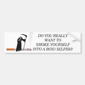 SMOKE BUMPER STICKER