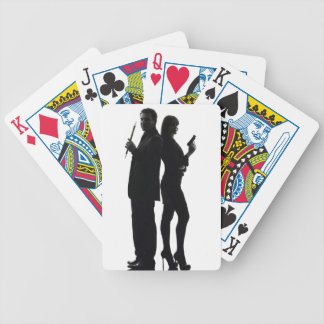 Smoke & Dagger Playing Cards, couple Bicycle Playing Cards