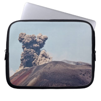 Smoke escaping from active volcano Anak Krakatau Computer Sleeve