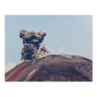Smoke escaping from active volcano Anak Krakatau Postcard