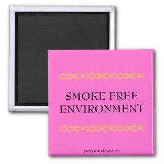 SMOKE FREE ENVIRONMENT SQUARE MAGNET