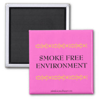SMOKE FREE ENVIRONMENT SQUARE MAGNET