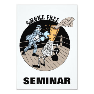 Smoke Free. Kicking butt! 13 Cm X 18 Cm Invitation Card
