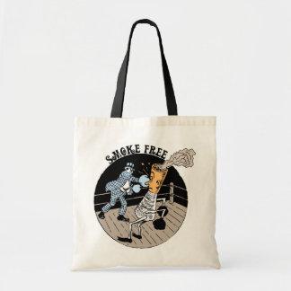 Smoke Free. Kicking butt! Budget Tote Bag
