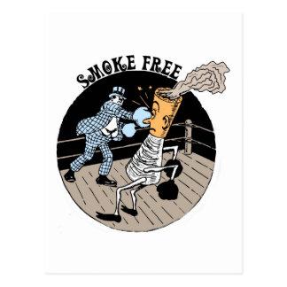 Smoke Free Kicking butt Post Cards
