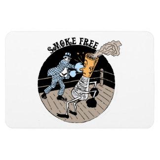 Smoke Free. Kicking butt! Rectangular Magnets