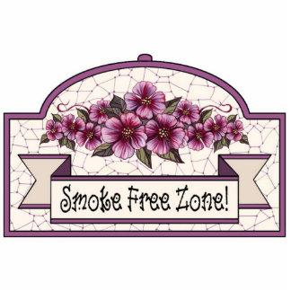 """Smoke Free Zone"" - Decorative Sign - 17 Photo Sculpture Decoration"
