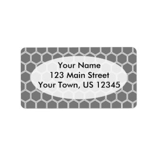 Smoke Hexagon 1 Address Label