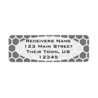 Smoke Hexagon 2 Return Address Label