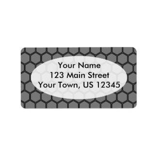 Smoke Hexagon 3 Address Label