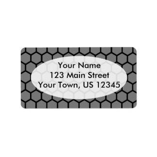 Smoke Hexagon 4 Address Label