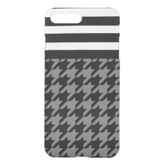 Smoke Houndstooth w/ Stripes 2 iPhone 7 Plus Case